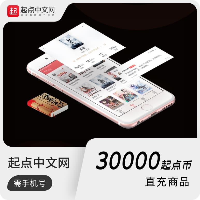 起点中文网300元30000起点币